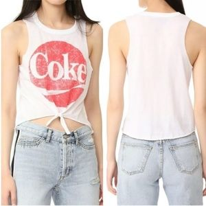 Coka Cola Collection By Chaser Tie Front Tank Top
